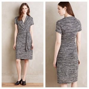 Anthropologie Cinched Surplice Dress